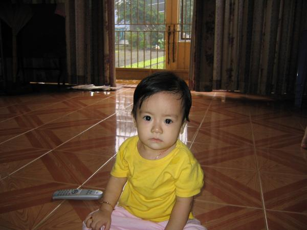 Nhat Lan when she was one year old